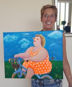 Dikke Dame op de fiets