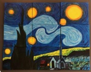 Van Gogh samengesteld schilderij