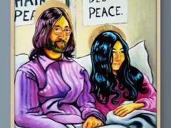 John & Yoko bedin for Peace